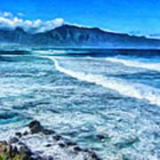 Winter Storm Surf At Ho'okipa Maui Art Print
