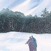 Winter Stroll Series Art Print