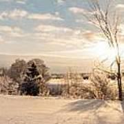 Winter Sunrise Panorama Art Print