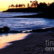 Winter Sunset In Laguna Beach II Art Print