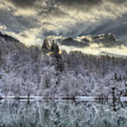 Winter Sunset Print by Ivan Slosar