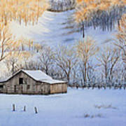 Winter Sunset Art Print by Michelle Wiarda