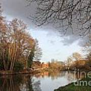 Winter Sunshine On The Wey Canal Surrey Uk Art Print