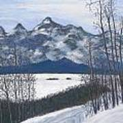 Winter Tetons Art Print