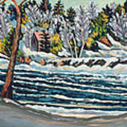 Winter Thaw Gatineau River Art Print by Patricia Eyre