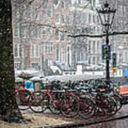 Winter Time In Amsterdam Art Print