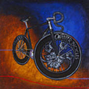Winter Track Bicycle Art Print