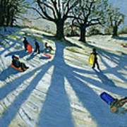 Winter Tree Print by Andrew Macara