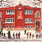 Winter Vacation Begins For Saint Pierre's School Art Print