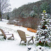 Winter Valley Chairs 2 Art Print
