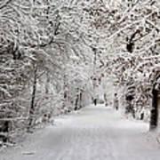 Winter Walk In Fairytale  Art Print