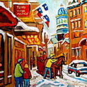 Winter Walk Montreal Art Print