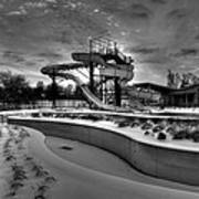 Winter Water Park Art Print