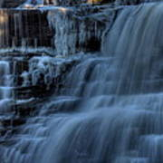 Winter Waterfall Art Print