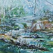 Winter Whispers On Catskill Creek Art Print
