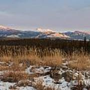 Winter Wilderness Landscape Yukon Territory Canada Art Print