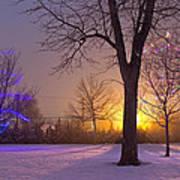 Winter Wonderland - Holiday Square - Casper Wyoming Art Print