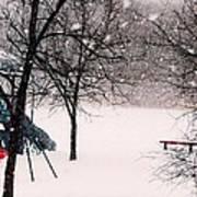 Winter Wonderland In Park Art Print
