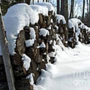 Winter Wood Supply Art Print
