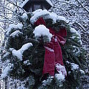 Winter Wreath Art Print