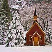 Winter Yosemite Chapel Art Print