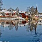 Winterday In Arboga  Art Print