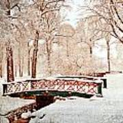 Winter's Bridge Art Print