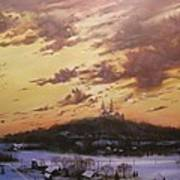 Winter's Eve At Holy Hill Art Print
