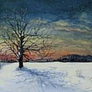 Winters Eve Art Print