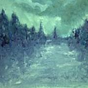 Winters Fog Art Print