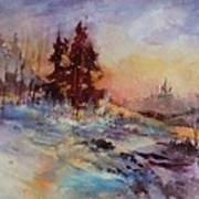 Winters Light Art Print