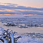Winters River Art Print