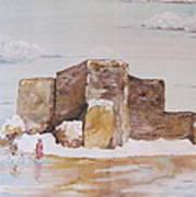 Winter's Wood Ranchos De Taos New Mexico Art Print