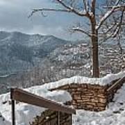 Wintertime At Hawks Nest  Art Print