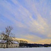 Wintertime At Widener Farms Art Print