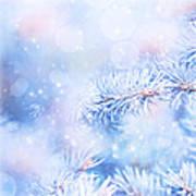 Wintertime Background Art Print