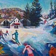 Wintertime Fun Art Print