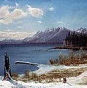 Wintertime Lake Tahoe In Winter The Sierra Nevada California Art Print