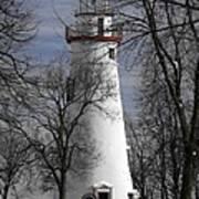 Wintry Lighthouse Art Print