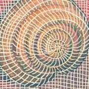 Wireframed Spiral Art Print