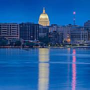 Wisconsin Capitol Reflection Art Print