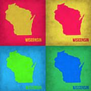 Wisconsin Pop Art Map 1 Art Print
