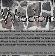 Wisdom In Stone Inspirational Art Print