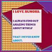 Wisdom Quote Rumors Artistic  Background Designs  And Color Tones N Color Shades Available For Downl Art Print