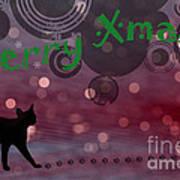 Wishing You All A Purrfect Xmas... Art Print