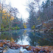 Wissahickon Creek - Fall In Philadelphia Art Print
