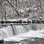 Wissahickon Waterfall In Winter Art Print