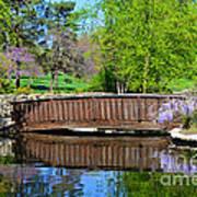 Wisteria In Bloom At Loose Park Bridge Art Print