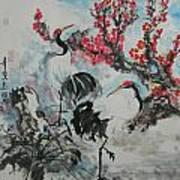 Wit The Plum Tree Art Print