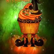 Witch Cupcake 4  Art Print